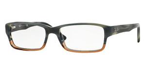 Ray-Ban RX5169 5543 BLUE HORN GRAD TRASP BROWN