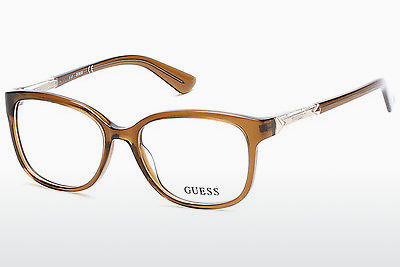 Gafas de diseño Guess GU2560 045 - Marrones, Bright, Shiny