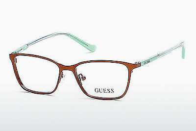 Gafas de diseño Guess GU9154 046 - Marrones, Bright, Matt