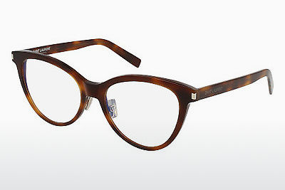 Gafas de diseño Saint Laurent SL 177 SLIM 002 - Marrones, Havanna