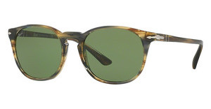 Persol PO3007S 10494E GREENSTRIPED BROWN GREY