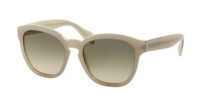 Prada PR 17RS TKO3H2 LIGHT BROWN GRAD LIGHT GREENOPAL IVORY/MATTE IVORY