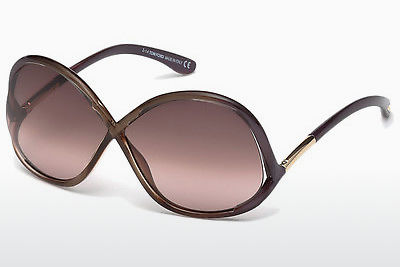 Gafas de visión Tom Ford Ivanna (FT0372 69Z) - Borgoña, Bordeaux, Shiny