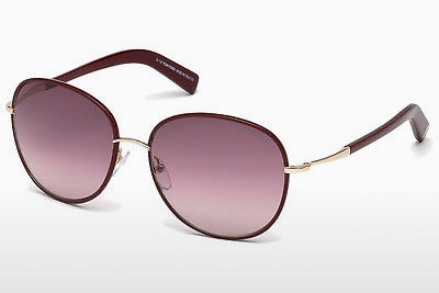 Gafas de visión Tom Ford Georgia (FT0498 69T) - Borgoña, Bordeaux, Shiny