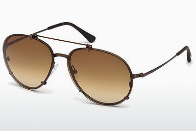Gafas de visión Tom Ford Dickon (FT0527 49J) - Marrones, Dark, Matt