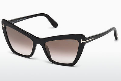 Gafas de visión Tom Ford Valesca (FT0555 01G) - Negras, Shiny