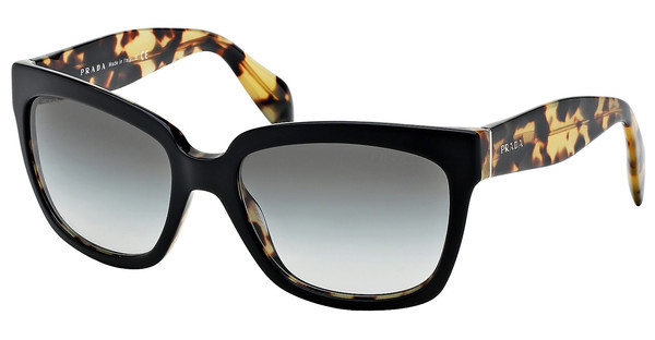 Prada PR 07PS NAI0A7 GRAY GRADIENTTOP BLACK/MEDIUM HAVANA