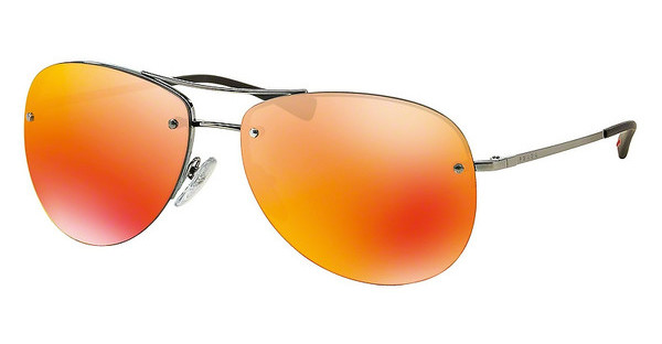 Prada Sport PS 50RS 5AV5M0 BROWN MIRROR ORANGEGUNMETAL