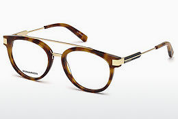 Gafas de diseño Dsquared DQ5261 053 - Havanna, Yellow, Blond, Brown