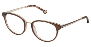 Carolina Herrera VHE124 0Z28 TOP MARRON SCURO+NOCCIOLA LUCIDO
