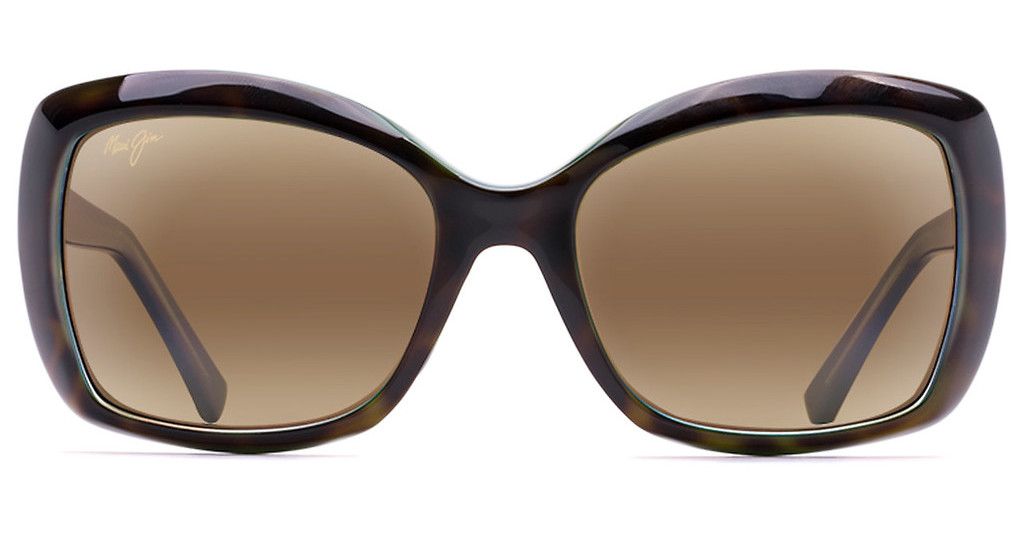 Maui Jim   Orchid H735-10P HCL BronzeTortoise with Peacock