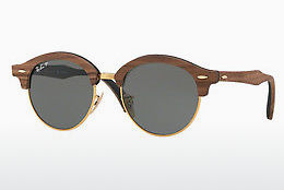 Gafas de visión Ray-Ban Clubround Wood (RB4246M 118158) - Oro