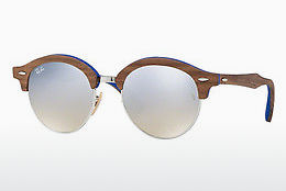 Gafas de visión Ray-Ban Clubround Wood (RB4246M 12179U) - Plateadas