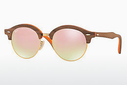 Gafas de visión Ray-Ban Clubround Wood (RB4246M 12187O) - Marrones
