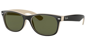 Ray-Ban RB2132 875 CRYSTAL GREENTOP BLACK ON BEIGE