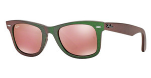 Ray-Ban RB2140 6109Z2 LIGHT BROWN MIRROR PINKMETALLIC GREEN