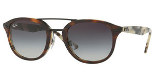 Ray-Ban RB2183 12268G GREY GRADIENT MIRROR BLUETOP BROWN HAVANA/HAVANA BEIGE