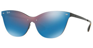 Ray-Ban RB3580N 153/7V DARK VIOLET MIRROR BLUEDEMI GLOS BLACK