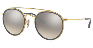 Ray-Ban RB3647N 001/9U GRADIENT BROWN MIRROR SILVERGOLD