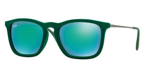 Ray-Ban RB4187 60823R GREEN MIRROR GREENFLOCK GREEN