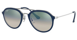 Ray-Ban RB4253 60533A CLEAR GRADIENT GREENTOP BLUE ON TRANSPARENT