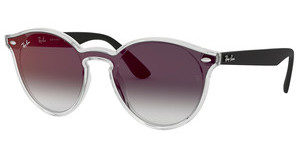 Ray-Ban RB4380N 6355U0 GREY GRADIENT MIRROR REDMATTE TRASPARENT