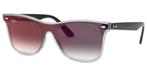 Ray-Ban RB4440N 6355U0 GREY GRADIENT MIRROR REDMATTE TRASPARENT