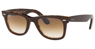 Ray-Ban RB2140 127651 CLEAR GRADIENT BROWNTOP BROWN ON YELLOW HAVANA