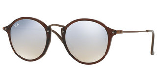 Ray-Ban RB2447N 62569U GREY FLASH GRADIENTSHINY TRASPARENT BROWN