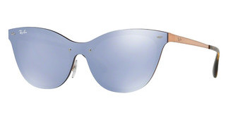 Ray-Ban RB3580N 90391U DARK VIOLET MIRROR SILVERBRUSHED COPPER