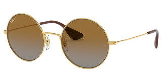 Ray-Ban RB3592 001/T5 LIGHT GREY GRAD BROWN POLARGOLD