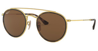 Ray-Ban RB3647N 001/57 CRYSTAL BROWN POLARIZEDGOLD