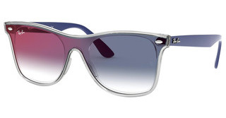 Ray-Ban RB4440N 6356X0 CLEAR GRADIENT BLUE MIRROR REDMATTE TRASPARENT