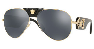 Versace VE2150Q 12526G GREY MIRROR BLACKPALE GOLD