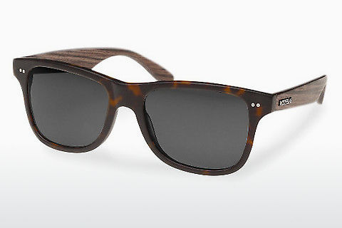 Gafas de visión Wood Fellas Lehel (10757 walnut/havana/grey)