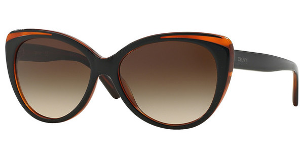 DKNY   DY4125 363913 BROWN GRADIENTTOP BLACK ON HAVANA